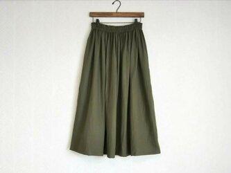 Wガーゼ(深緑) ロングスカートの画像
