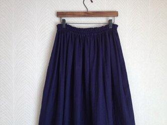 Wガーゼ(紺) ロングスカートの画像