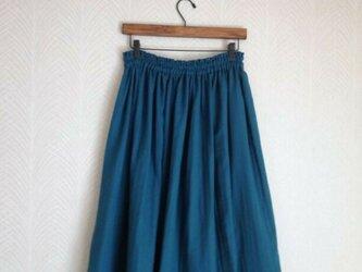 Wガーゼ(オーシャンブルー) ロングスカートの画像