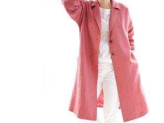 【wafu】厚地 起毛 リネンコート 暖かい リネン 羽織  裏地 チェスターコート  アラジンズランプ b23-31の画像