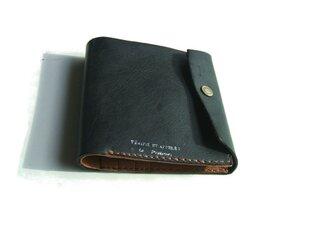 half wallet 札入れ ブラック 黒の画像