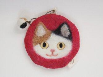 いろいろ使える猫顔フェルト(ミケ)の画像