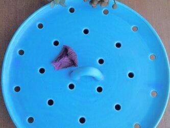 蒸し皿: LLターコイズブルーの画像