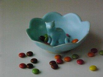 Cat Loverのためのジュエリーディッシュ・アイスブルー・3の画像
