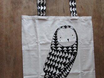 フクロウのエコバッグの画像