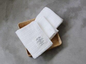 2.5-PLY GAUZE TOWEL バスタオル/M  Whiteの画像