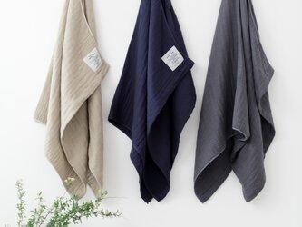 2.5-PLY GAUZE TOWEL バスタオル/L  Mix Charcoalの画像