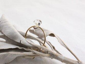 Herkimer Diamond Ring ハーキマーダイヤモンドのシンプルリング 14KGFの画像