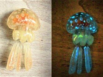 蓄光☆タコクラゲブローチ(オーダーメイド)の画像