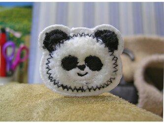 ★かわいいもこもこパンダ★ミニワッペンの画像