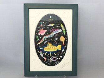 色鉛筆イラスト「海の宇宙」の画像