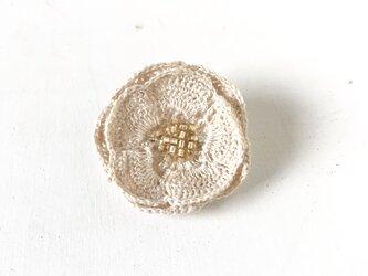 flower brooch C - オフホワイト③の画像