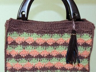 手編みのバッグの画像