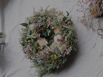 春の雫型リース 〜botanical harmony〜の画像