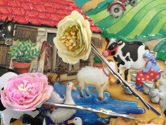 Spring rose hairpin setの画像