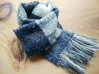 手織りミニマフラーの画像
