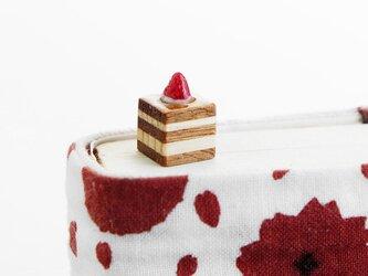 寄木のいちごチョコケーキしおり(ブックマーカー)の画像