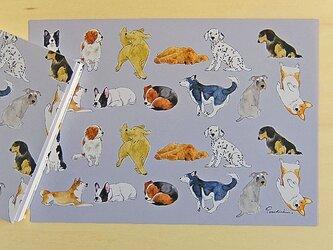 犬のラッピングペーパーの画像