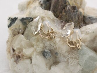 Herkimer Diamond Clip on Earrings ハーキマーダイヤモンドのイヤリングの画像
