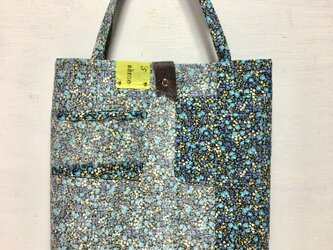 tote bag/ヴィンテージ 小花柄のトートバッグ    ■tf-312の画像
