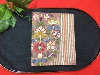 和物カードケース36枚入【茶色小花】の画像