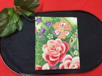 和物カードケース36枚入【新緑薔薇】の画像