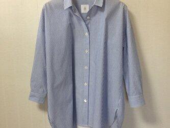 オーガニックコットン ストライプワイドシャツの画像