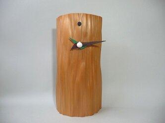 杉の丸太時計の画像