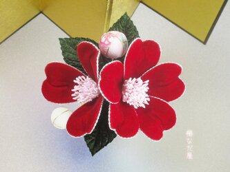 髪飾り 花飾り 和 着物 成人式 卒業式 入学式 七五三 赤系 ヘアコーム 振袖の画像