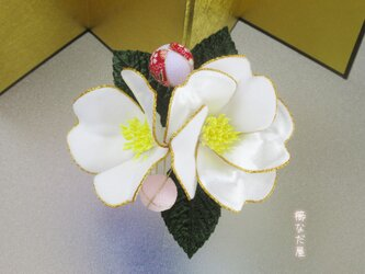 髪飾り 花飾り 和 着物 成人式 卒業式 入学式 七五三 白系 ヘアコーム 振袖の画像