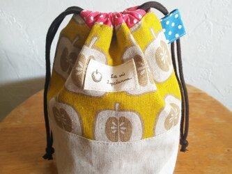 SP-10リンゴのきんちゃく袋*コップ用巾着*コスメポーチの画像