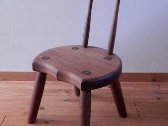 小椅子 ch0711 ウォールナット こども椅子の画像