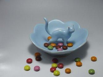 Cat Loverのためのジュエリーディッシュ・アイスブルー・4の画像