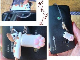 猫のイヤホンジャックアクセサリ①の画像