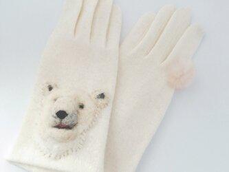 目ガ死ンデル手袋:シロクマ1号【タッチパネル対応】の画像