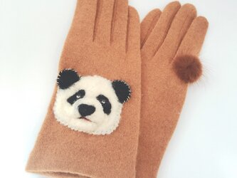 目ガ死ンデル手袋:パンダ1号【タッチパネル対応】※送料無料の画像