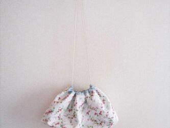 drawstring bag ~rose&forget-me-not~の画像