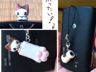 猫のイヤホンジャックアクセサリ②の画像