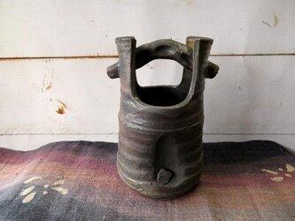 炭化焼き締め花器 kaki0203-1【現品のみ】の画像