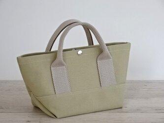 帆布 トート・大人カラーの ミニトート サンド ベージュ キャンバス バッグの画像