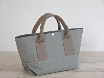 帆布 トート・大人カラーの ミニトート グレー キャンバス バッグの画像