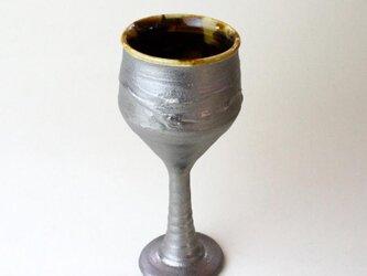 玳玻盞ワイングラスNO.1/プラチナ仕上げ /陶器 /陶芸 /タイヒサン/ceramic/potteryの画像