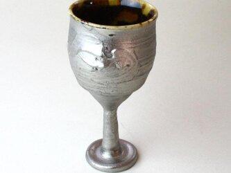 玳玻盞ワイングラスNO.2/プラチナ仕上げ /陶器 /陶芸 /タイヒサン/ ceramic/potteryの画像