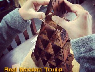インテリア用 木のトランプ Bridge サイズの画像