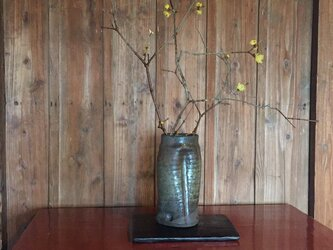 花器(箆目自然釉)の画像