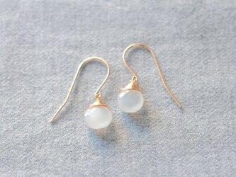 moonstone large hook earringsの画像