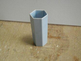 背の高い酒盃 青磁六角の画像