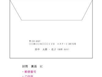 招待状オプション(封筒への差出人印刷 追加)の画像
