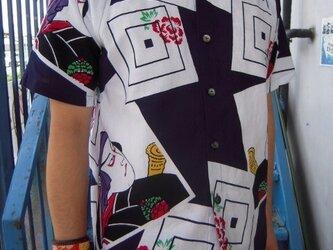 浴衣リメイクシャツ(歌舞伎絵)の画像