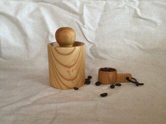 【受注制作】Wood コーヒー豆挽きセットの画像